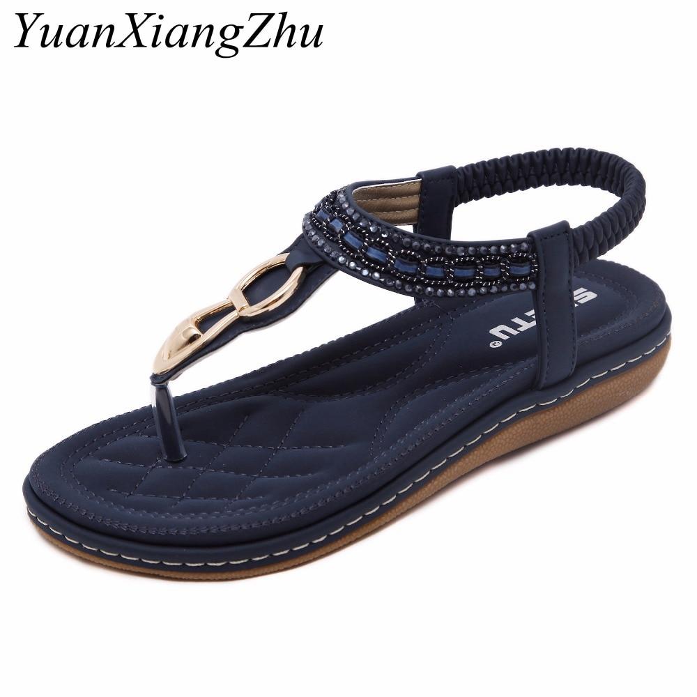 2b2a321cb8d Grande De Metal 42 Mujeres Beige Mujer 35 Sandalias Zapatos azul Tamaño  Clip Verano Playa Bohemia ...