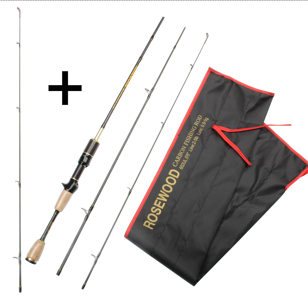 Cheap UL Casting Spinning Fishing Rod 1.8m Ultra Light Carbon Fiber Rods 2 Top Tips 3 Sections Lure Weight 0.8-5g Tackle Pesca  (13)