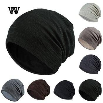 7 Color Striped Skullies Beanies for Men Women Hat 2019 Spring & Autumn Breathable Turban Cotton Pile Cap Skullcap TTM-CZX7 - discount item  20% OFF Hats & Caps