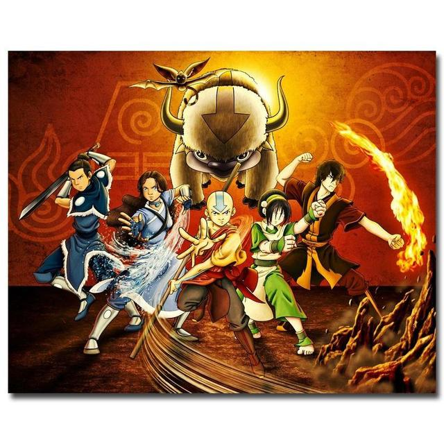 Avatar The Legend Of Korra Poster Anime Silk Poster Wall ...