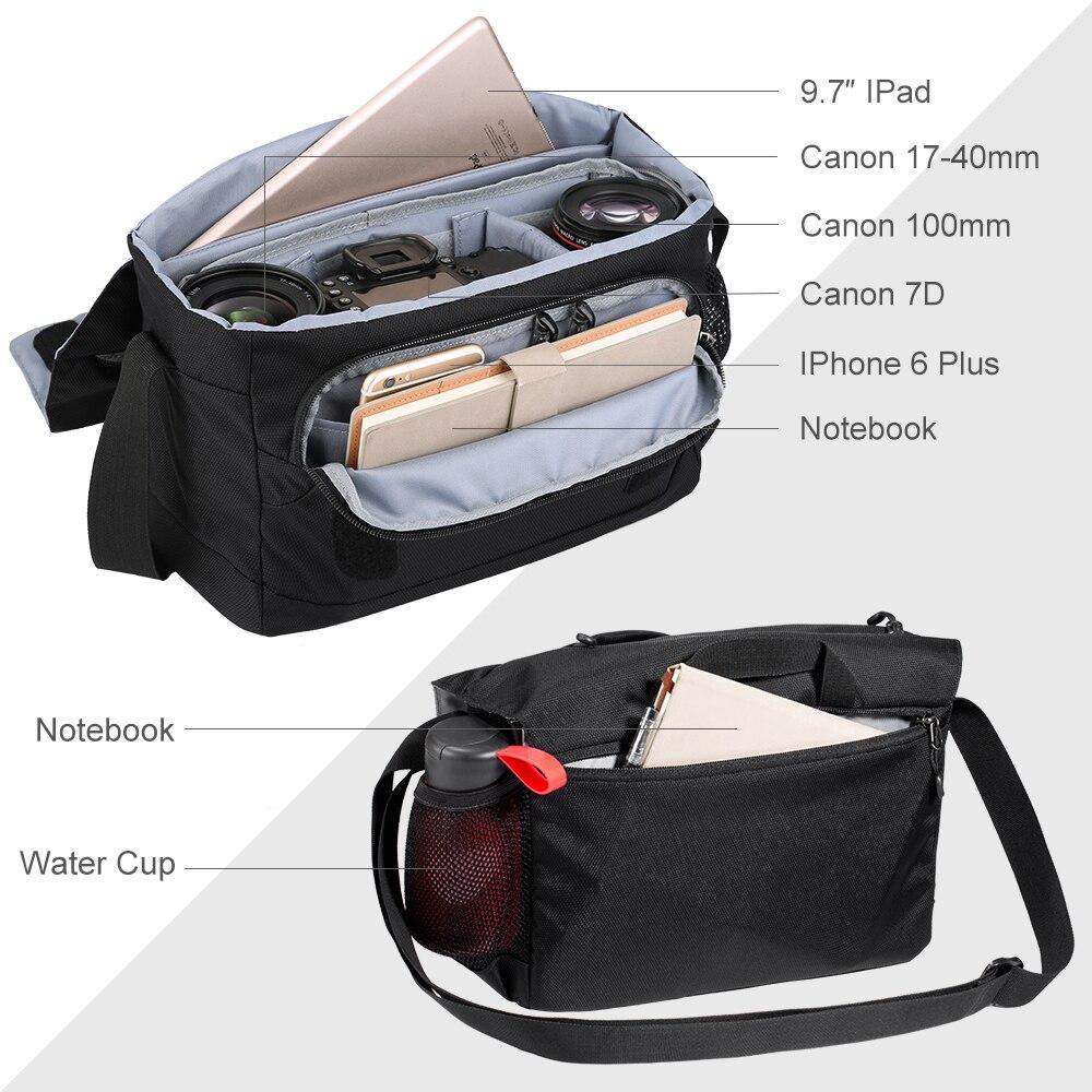K/&F Concept DSLR SLR Camera Shoulder Bag Messageer Bag Waterproof Fr Canon Nikon