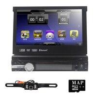 7-дюймовый 1 Дин dvd-плеер моторизованный Съемная 1080 P видео HD Сенсорный экран Automotivo стерео Bluetooth SD BT SD USB