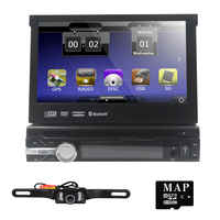 7Inch 1 din car dvd Player Motorized Detachable 1080P Video HD Multi Touch Screen automotivo car stereo bluetooth sd BT SD USB