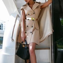 Весенняя женская модная элегантная Офисная Рабочая одежда Вечерние двубортные дизайнерские блейзеры с накидкой