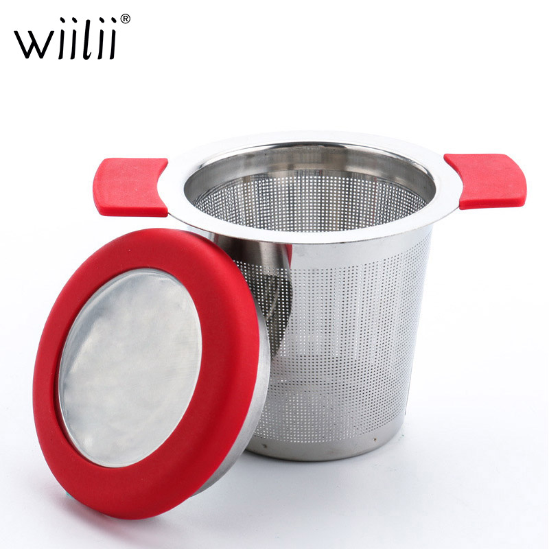 Stainless Steel Tea Infuser Filters For Coffee Loose Tea Leaf Strainer Mesh With Lid Reusable Tea Infusers Basket
