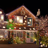Christmas IP68 Outdoor Laser Stage Light Projector RG Waterproof Snowflake Xmas Tree Garden Lamp Decoration Show