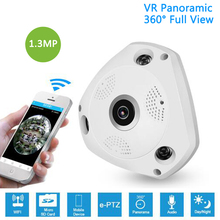 hot deal buy 1.3mp ip vr camera wifi network fisheye 1.44mm 360 panoramic wi-fi cameras 960p wireless surveillance cctv cam support vr box