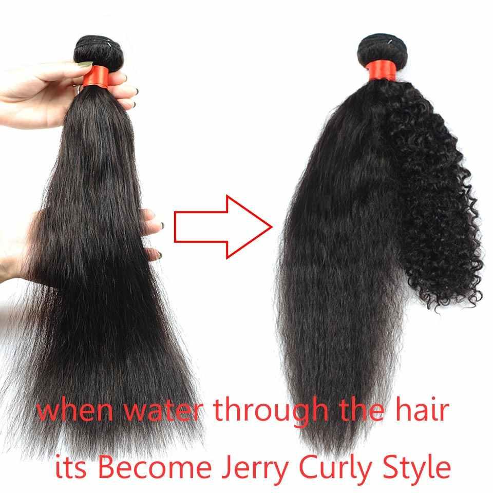 Pinshair Real mojado y ondulado cabello humano 4 paquetes ofertas extensiones de trama de cabello peruano Color Natural sin enredos y cobertizo no reumáticas
