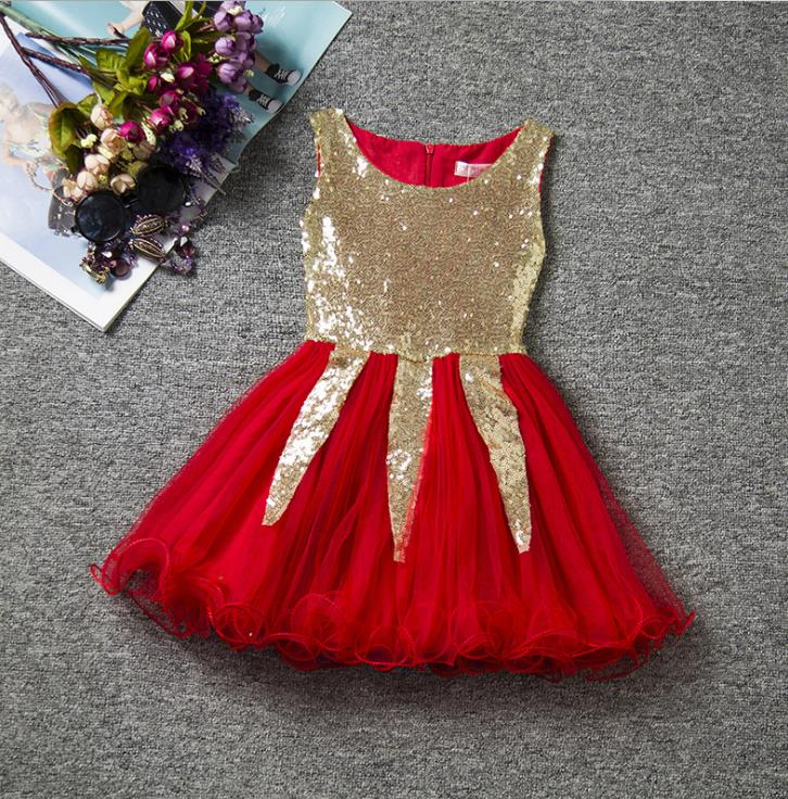 Sequins Baby Girl Dress Carnival Party Kids Tulle Costume For Girls Clothes Little Bebes Tutu Dress Children Ball Gown Clothing