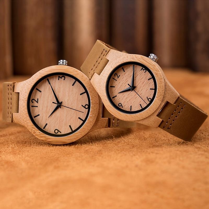 2019 Couple Wood Watch Fashion Quartz Ladies Wooden Watch Casua Lover Wood Watches Women Men Top Brand Luxury Clock Lover B13