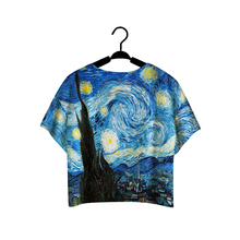 Hot-Selling tshirt  NEW Women t shirt 3D Print Van Gogh Paintings Digital Printing One Size t-shirt