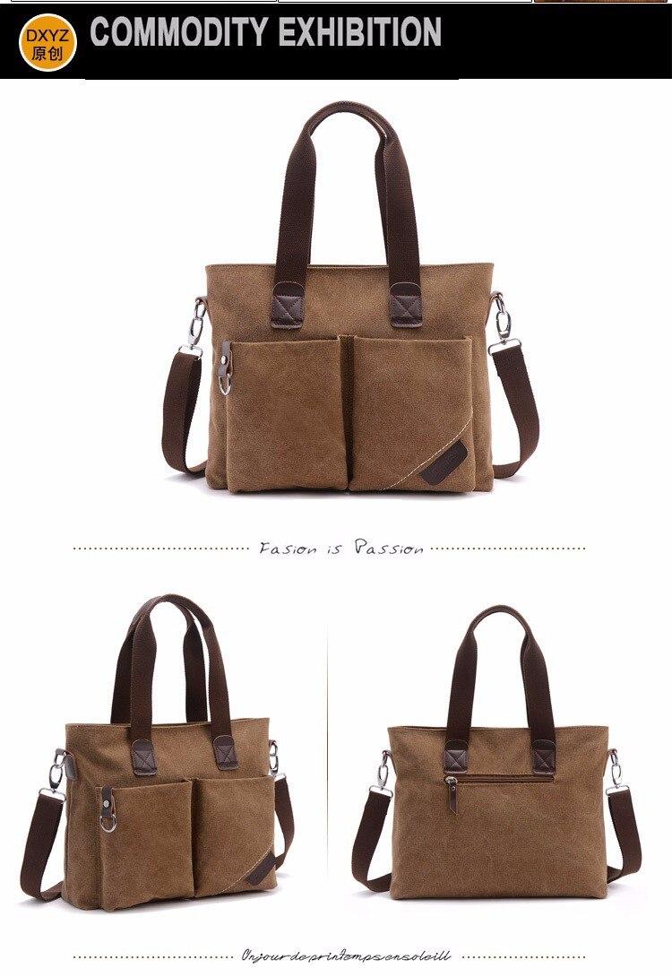 ⑦Hot novos estilos de Lazer dos homens saco de lona bolsa da forma ... 79aaf6f17f1