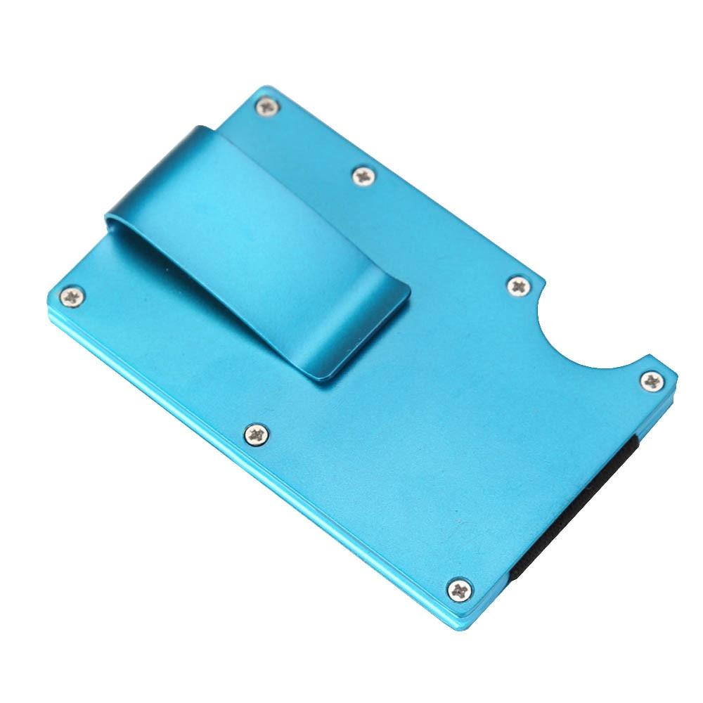 Elegant Business Credit Card Holder Metal Wallet Porte Carte Pocket Bank ID Card Holder Case Gift Aluminum Card Holder elegant metal business card case
