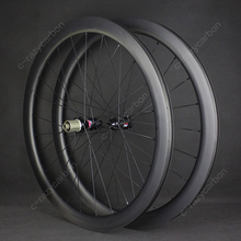 Promotion!2019 700C Road 45mm Carbon Wheels Disc Brake with Center Lock Tubular/Clincher/Tubeless with Novatec/DT Hubs