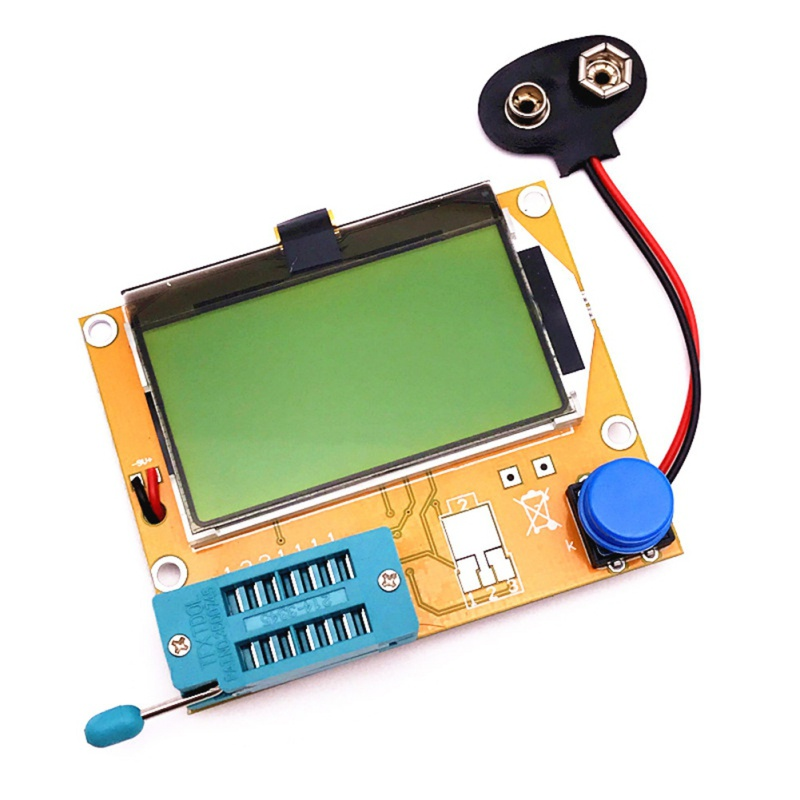 LCD Digital Transistor Tester Meter LCR T4 Backlight Diode Triode Capacitance Transistor ESR Meter For MOSFET/JFET/PNP/NPN L/C-in Multimeters from Tools