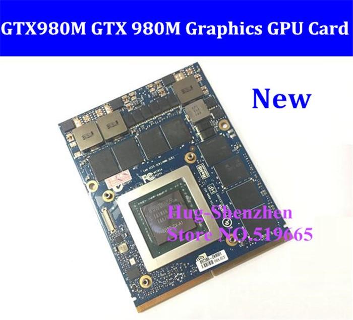 חדש GTX980M GTX 980 m גרפיקה GPU כרטיס N16E-GX-A1 8 gb GDDR5 עבור Alienware  M17X/M18X/Clevo P150EM /MSI 16F2/DEll M6700/HP 8740 w