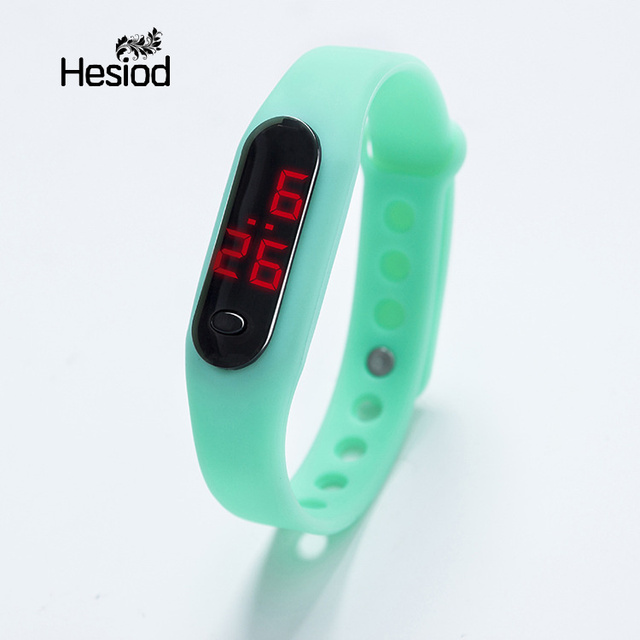 3053a26811 US $1.25 40% OFF|Small Watches Candy Color Men Women Watch LED kids Watches  Date Bracelet Digital Sports Wristwatch for Students Teenages-in Women's ...