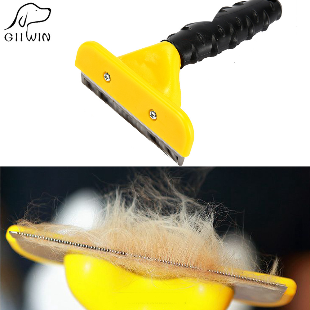 Dog Comb Pet Hair Brush Hackle For Cats Shedding Grooming Brushes Hair Removal Combs Cat Supplies Pet Furmins Tool Hackle Yt0005