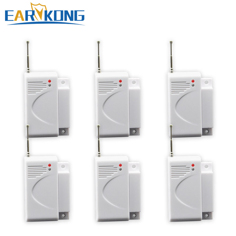 Free shipping High quality GSM Alarm System 433Mhz new 6pcs wireless Door magnetic sensor Home Burglar Security Alarm System high quality marlboze gsm alarm system shock sensor vibration sensor free shipping