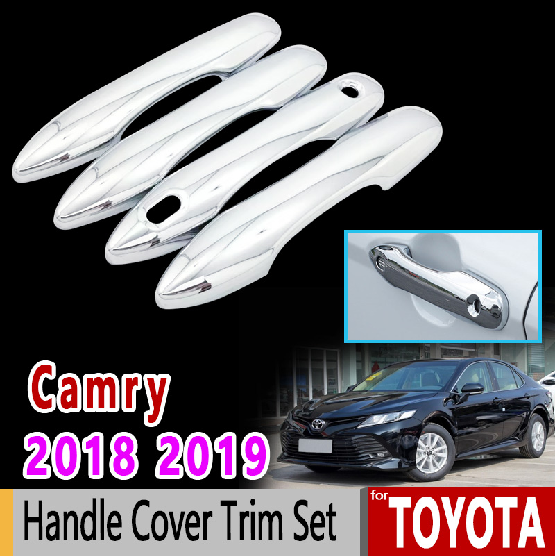 for Toyota Camry Daihatsu Altis XV70 2018 2019 Chrome Handle Cover Trim Set Luxury High Quality Accessories Car Sticker Sticker