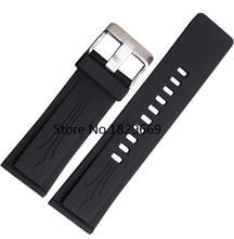 Nuevo Hombre Negro de Silicona De Goma Correas de Reloj Bandas pulseras Impermeable 26mm