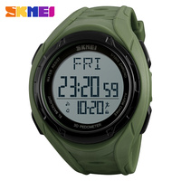 SKMEI Men S Sports Watches Luxury Outdoor Pedometer Watch Casual Military Man Dual Time Display Wristwatches