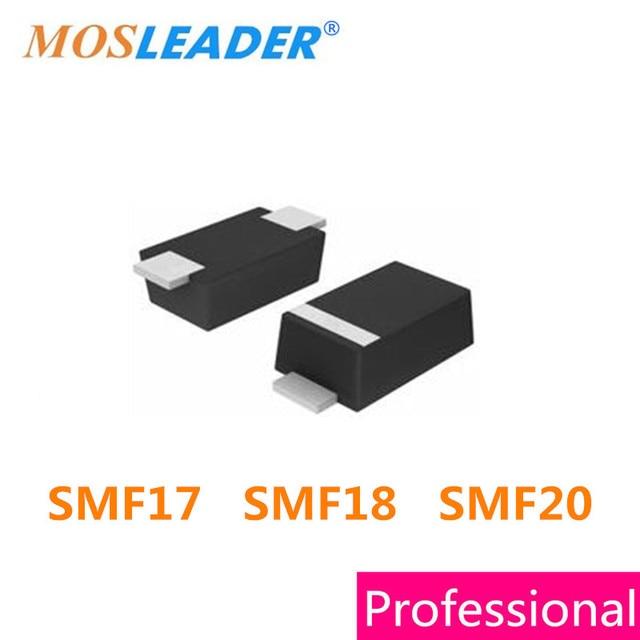 Mosleader 1000 шт SOD123F 1206 SMF17 SMF18 SMF20 SMF17A SMF17CA SMF18A SMF18CA SMF20A SMF20CA ESD 17 в 18 в 20 в