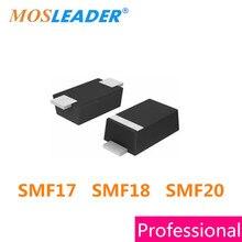 Mosleader 1000 pz SOD123F 1206 SMF17 SMF18 SMF20 SMF17A SMF17CA SMF18A SMF18CA SMF20A SMF20CA ESD 17 v 18 v 20 v