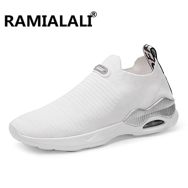 Для мужчин спортивные кроссовки плетения сетки носки кроссовки открытый подушки бег спортивные кроссовки обучение ходьбе Zapatos