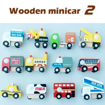 hot selling 12 pcs baby wooden educational vehicle toys /Mini wood car truck train model /kids Child best gifts ,fast shipping