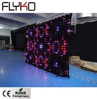 soft backdrop P80mm 2x3m popular size manufacturer price led electronic video curtain backdrop