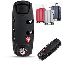 цены combination lock 3 Digit Combination Padlock TSA Lock Luggage Suitcase Travel Bag Code Lock Black Combination Lock 8.3*3.1cm