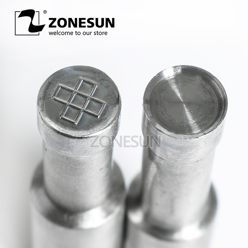 ZONESUN cross Sugar Milk Tablet Press 3D Mold Candy Milk Punching Die Custom Logo For punch die TDP 0 1.5 3 Machine