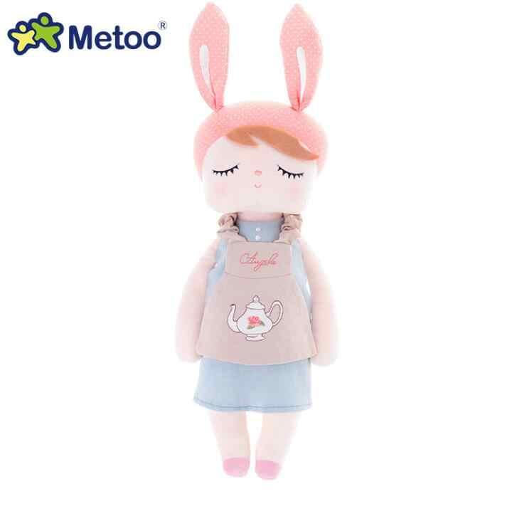 Metoo ตุ๊กตา 13 นิ้วมาพร้อมกับ Sleep Retro Angela กระต่ายตุ๊กตาสัตว์ตุ๊กตาเด็กของเล่นเด็กวันเกิดคริสต์มาสของขวัญ