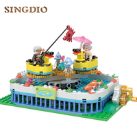 226pcs Early Learning DIY Toys Fishing field Blocks Big Building Blocks For Child Educational toys for Children gifts for Kids
