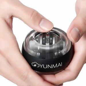 Image 4 - 3 สีYunmaiนาฬิกาข้อมือเทรนเนอร์บอลLED Gyroball Essential SPINNER Gyroscopic Forearm Exerciser Gyro Ball Decompression