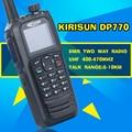 Free Shipping Matrix True Color Display KIRISUN DP-770 Analog Digital GPS Walkie Talkie UHF 400-470MHz DMR PROTABLE RADIO DP770