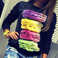 2017 new women 's personality hamburger printing hoodies Sweatshirts coat