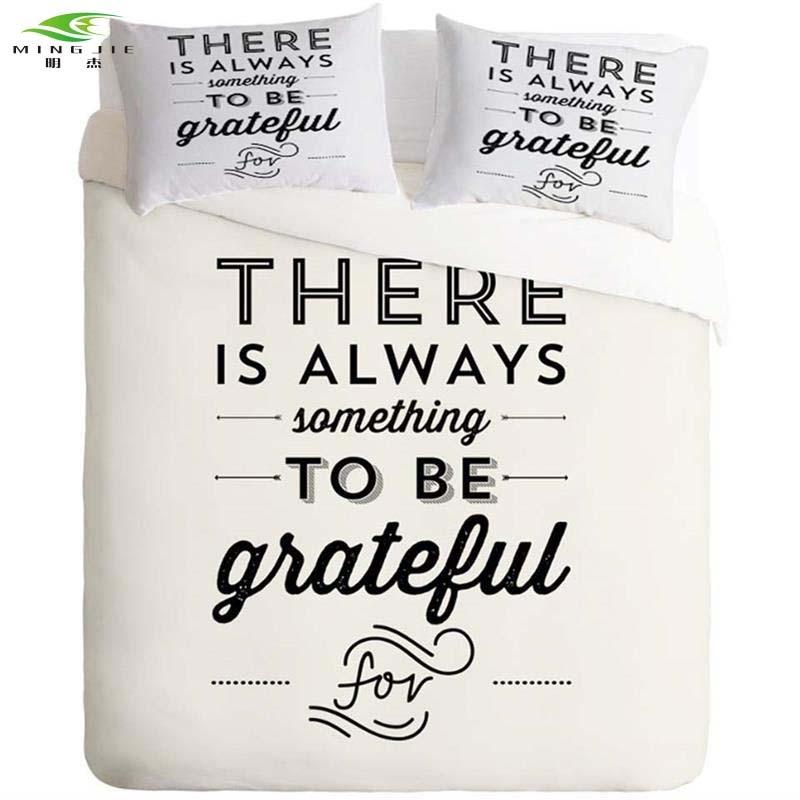 Fundas nórdicas en blanco y negro Sets Funda de almohada Cartas - Textiles para el hogar
