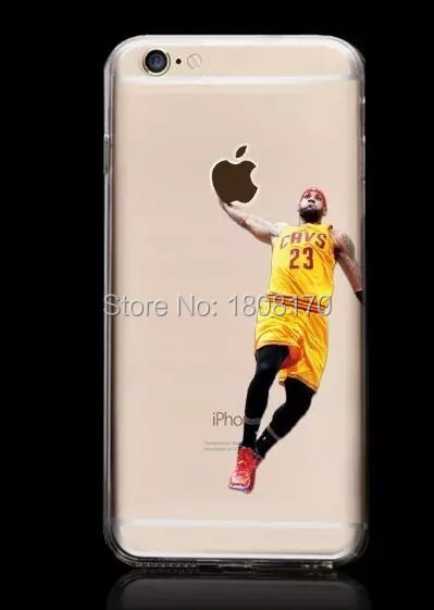 low cost 46107 23472 US $165.0 |Transparent Jordan Sport Basketball Player TPU Soft Case For  Iphone 6 6S Plus 4.7 5.5 I6 5 5S Silicone Cover NBA Shooting 200pcs-in ...