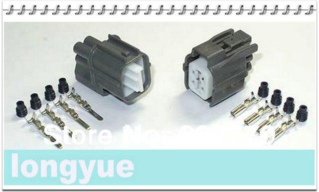 longyue 2set 4 pin connector for honda Accord S2000 2.0L F20C VTi-R  2.2L H22A O2 oxygen sensor male and female new