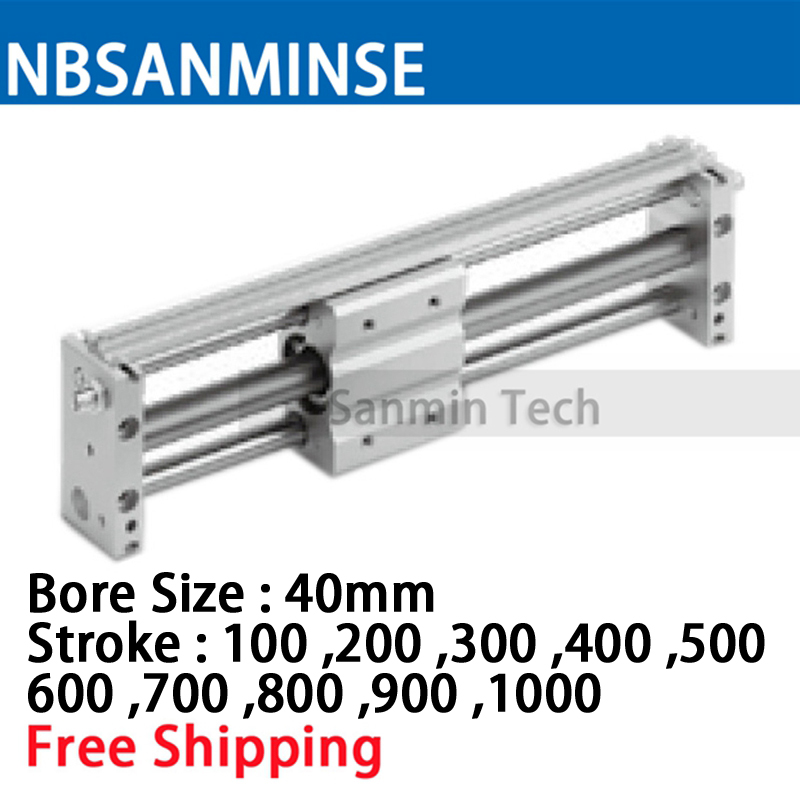 CY1S 40mm Bore Air Slide Type Cylinder Pneumatic Magnetically SMC Type Compress Air Parts Coupled Rodless Cylinder Parts Sanmin cy1s 25mm bore air slide type cylinder pneumatic magnetically smc type compress air parts coupled rodless cylinder parts sanmin