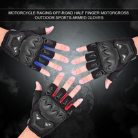 Half Finger Racing Riding Cycling Motorcycle Gloves Motorcross Outdoor Sports Armed Gloves Protective Gear Moto Men