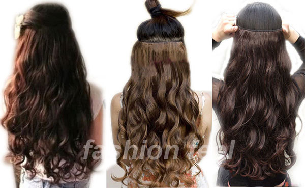 SUPER SALE US UK LOCAL SELLER Long Curly Wavy Clip In Ins Hair Extensions 3 4 Full Head One Piece 5Clips 1 5 DAY DELIVERY On Aliexpress