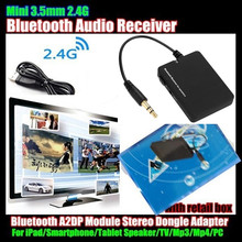 Mini 3.5mm Wireless Bluetooth V2.1 Audio Music Receiver For iPad/Smartphone/Speaker/TV/Mp3/Mp4/PC,A2DP Module Stereo Dongle