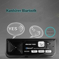 Handsfree Bluetooth car AUX sun visor with USB car charger Bluetooth Multipoint Speakerphone MP3 Music Player black