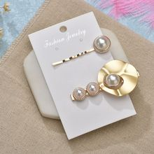 Gold Color Summer 2Pcs/Set Hair Clips Imitation Pearl Fashion Adult Ladies Girl Pins Elegant Wedding Women Accessories