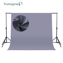 купить 1.6*4M/5.2*13Ft Gray Screen Photo Background Photography Studio Backdrops Non Woven Solid Color Chroma key Backdrop по цене 854.52 рублей