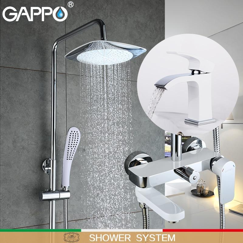 GAPPO shower faucets Top Quality bath set Bathroom mixer shower bathtub rainfall shower set Basin Faucet shower system          GAPPO shower faucets Top Quality bath set Bathroom mixer shower bathtub rainfall shower set Basin Faucet shower system