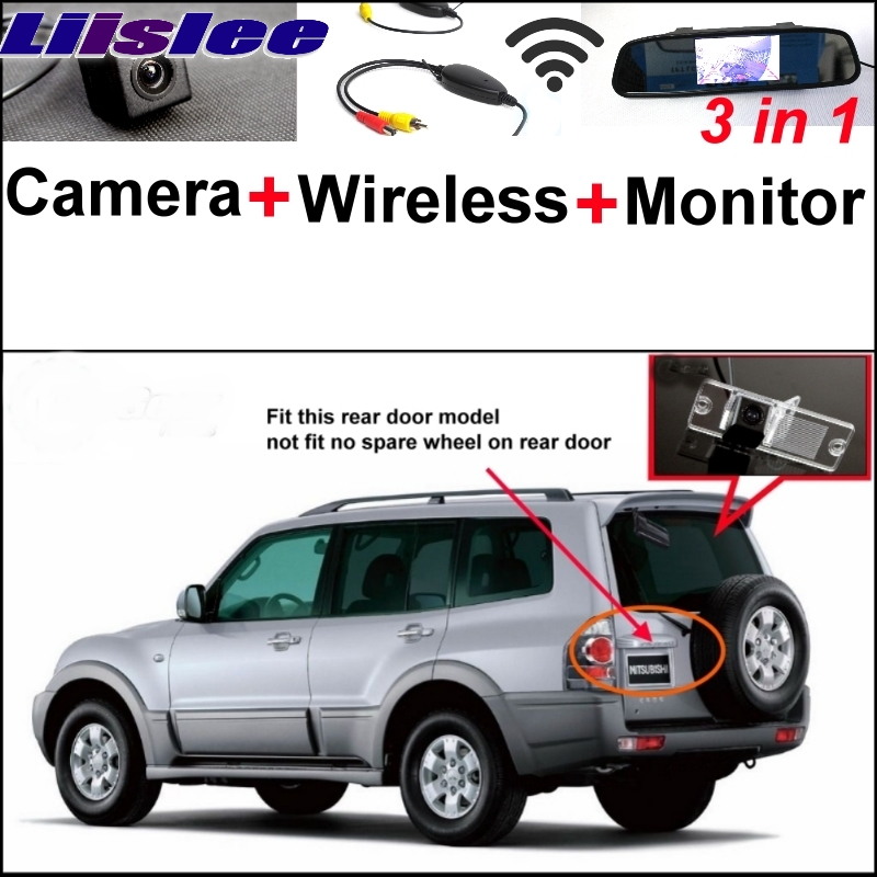 3 in1 Special Rear View Camera + Wireless Receiver + Mirror Monitor DIY Parking System For Mitsubishi Pajero Pajero Super Exceed Mitsubishi Pajero
